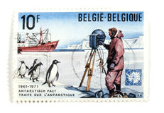 Belgian postage stamps Royalty Free Stock Photos