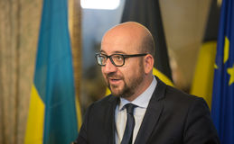 Belgian Prime Minister Charles Michel Royalty Free Stock Photo