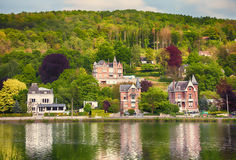Belgian  river view Royalty Free Stock Image