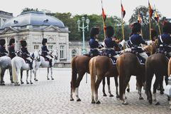 Belgian Royal Escort stock photo