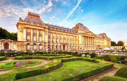Belgian Royal Palace in Brussels.  Royalty Free Stock Photography
