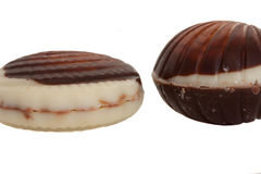 Belgian seafood chocolate Stock Images