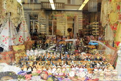 Belgian souvenirs shop display Royalty Free Stock Images