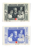Belgian stamps Stock Photography