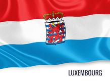 Belgian state Luxembourg flag. Royalty Free Stock Photos