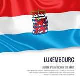 Belgian state Luxembourg flag. Stock Photos