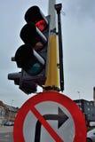 Belgian Traffic light Stock Photo