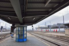 Belgian trains, trainstation Stock Image