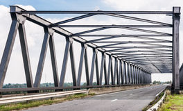 Belgian Truss Bridge Stock Image