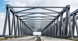 Belgian Truss Bridge Stock Photo