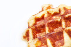 Belgian waffle closeup Stock Image