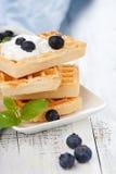Belgian waffle Royalty Free Stock Photos