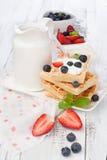 Belgian waffle Stock Photos