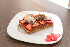 Belgian waffle Stock Image