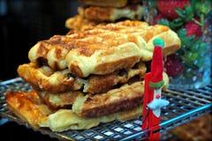 Belgian waffle royalty free stock photography