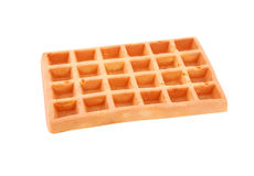 Belgian waffle on white Royalty Free Stock Photos