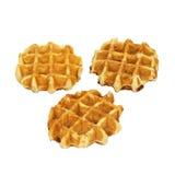 Belgian waffles. Belgian waffles isolated on white Royalty Free Stock Photos