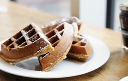 Free Belgian Waffles Royalty Free Stock Photos - 24700638