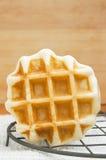 Belgian waffles. Freshly baked Belgian waffles Stock Images