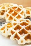 Belgian waffles. Freshly baked Belgian waffles Royalty Free Stock Images