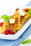 Belgian waffles Stock Photos