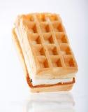 Belgian waffles. On the white Royalty Free Stock Photos