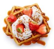 Belgian waffles Royalty Free Stock Photos