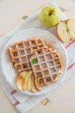 Belgian Waffles with fresh fruit Stock Image