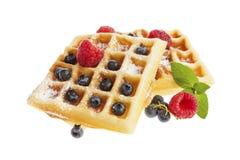Belgian Waffles Isolated Royalty Free Stock Images
