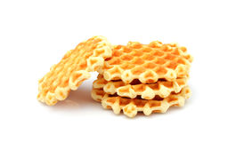 Belgian waffles isolated. Royalty Free Stock Photography
