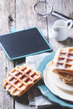 Belgian waffles Royalty Free Stock Photos