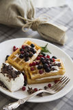 Belgian waffles series 47 Royalty Free Stock Photo