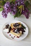 Belgian waffles series 01 Royalty Free Stock Image
