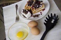 Belgian waffles series 21 Royalty Free Stock Images