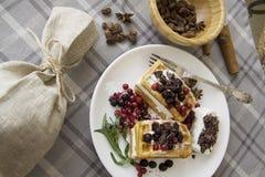 Belgian waffles series 52 Royalty Free Stock Image