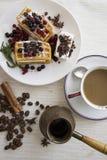 Belgian waffles series 35 Royalty Free Stock Image