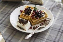 Belgian waffles series 46 Stock Photo