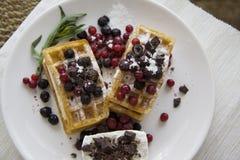 Belgian waffles series 11 Royalty Free Stock Photo