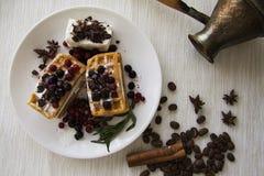 Belgian waffles series 29 Stock Image
