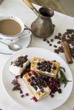 Belgian waffles series 33 Royalty Free Stock Images