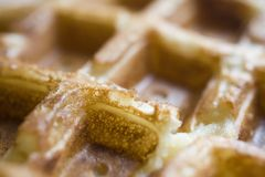 Belgian Waffles: Up Close and Personal stock images