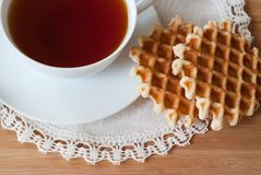 Belgian waffles for your breakfast. Stock Image