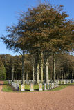 Belgian WW I cemetery in Houthulst. Royalty Free Stock Images