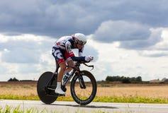 BelgianCyclisten Skåpbil Håla Broeck Jurgen Arkivfoto