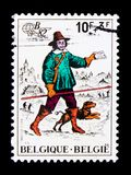 Belgica `82, Philatelic exhibition, serie, circa 1982. MOSCOW, RUSSIA - NOVEMBER 23, 2017: A stamp printed in Belgium shows Belgica `82, Philatelic exhibition Stock Images