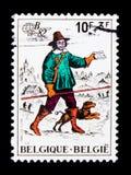 Belgica `82, Philatelic exhibition, serie, circa 1982 Stock Images