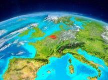 Belgien auf Erde Stockbild