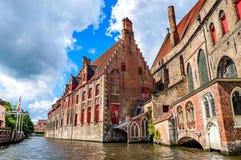 Belgien bruges arkivbild