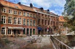 Belgien bruges gator Royaltyfri Fotografi