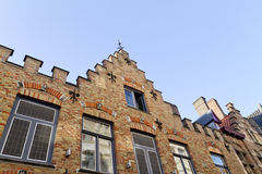 Belgien bruges husvägg Arkivbild